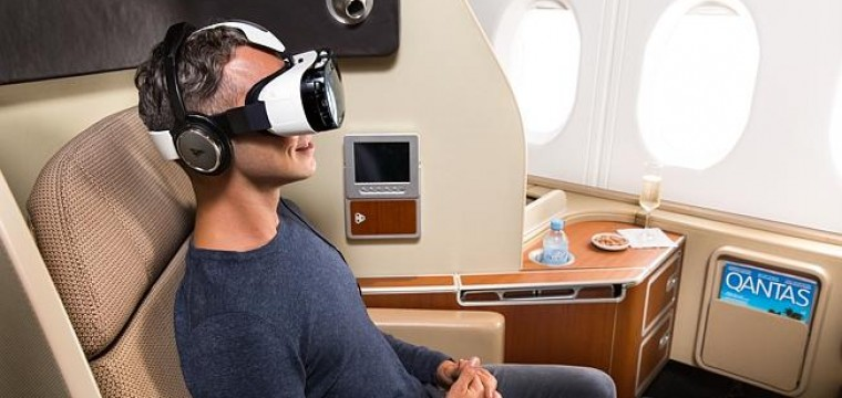 Zapstars Productions at the announcement of Samsung virtual reality headsets trial on Qantas flights
